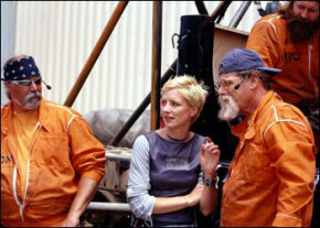 "Cathy Rogers, the creator of ""Scrapheap Challenge"" and ""Junkyard Wars,"" with team members"