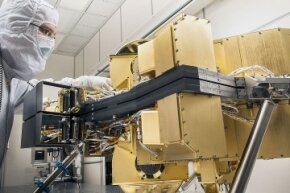 Webb's Near-Infrared Camera hangs out in a clean room at the Lockheed Martin Advanced Technology Center on Feb. 12, 2014. It's safe to say that a working NIRCam will take in some seriously awesome cosmic sights.