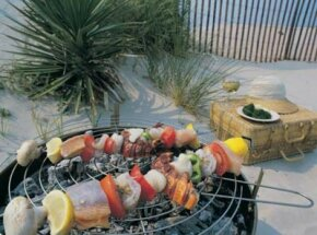 Extreme Grilling Image Gallery Sometimes kabobs spin on a single skewer -- so why not use two instead? See more extreme grilling pictures.