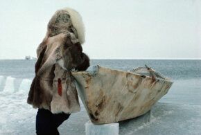 Inuits continue the tradition of crafting boats from sealskin.