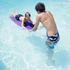 It's all right to have fun at the pool, but make sure adult supervisors cut down on dangerous horseplay.