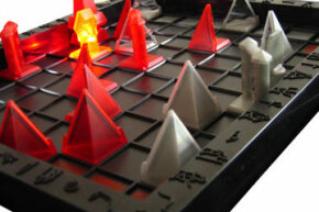 Thinking ahead is important when playing Khet.