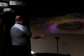 Microsoft's research team came up with a way to use the Kinect to interact with the WorldWide Telescope during the beta period of the Kinect SDK.