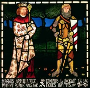 King Arthur Image Gallery King Arthur and Sir Lancelot, 1862 (stained glass). See more pictures of King Arthur.