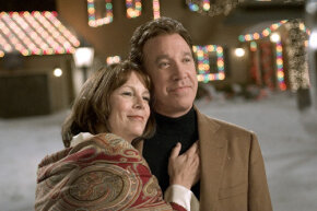 Jamie Lee Curtis and Tim Allen bask in the warm glow of movie fakery.