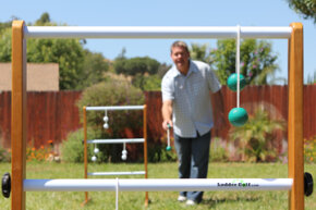 Ladder golf is the brand name for a packaged version of ladder ball. See pictures of classic toys and games.