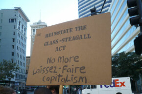 Protesters, Glass-Steagall Act