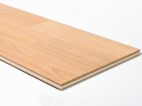 Laminate floor is a photographic image of a pattern on a supportive base.