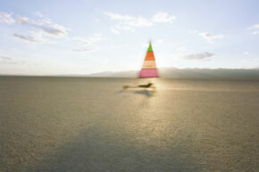Image Gallery: Extreme Sports Land sailing often takes place on dried up lakes. See pictures of extreme sports.