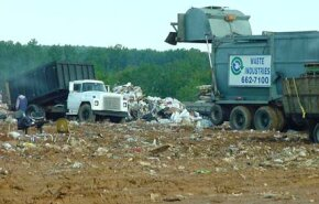 Private haulers drop off trash at a landfill. See more options for disposing of trash with pictures of green living.