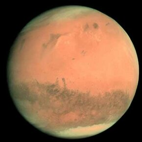 Rosetta, the European Space Agency's comet chaser, cruised by Mars and photographed the planet in 2007. See more Mars pictures.