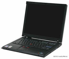 An IBM ThinkPad