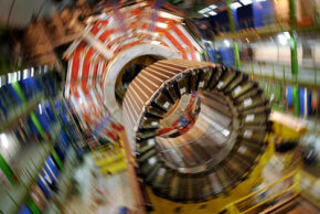 The magnet core of the Large Hadron Collider
