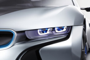 BMW's i8 hybrid sports car concept was revealed at the 2011 Frankfurt Motor Show. See more pictures of concept cars.