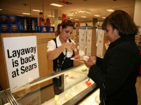 Stores, such as Sears, have brought back layaway in time for the 2008 holiday season.