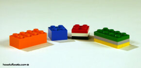 You can make a 2 x 2 brick with three 2 x 2 plates or a 2 x 4 brick with three 2 x 4 plates. Or, you can combine 2 x 2 bricks and plates to make a 2 x 4 brick.