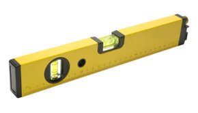 A larger level will help you to measure true horizontal and vertical for an object.