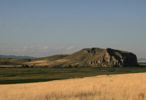 Beaverhead Rock near Dillon, Mont., the home of the Shoshone Indians