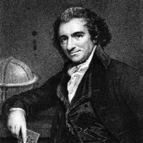 "Early libertarian and ""Common Sense"" author Thomas Paine."
