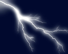 The brilliant white-blue flash of lightning is caused by its extreme heat. A lightning bolt is hotter than the surface of the sun.