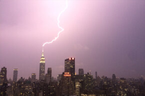 The Empire State Building gets hit by lightning about 100 times a year.