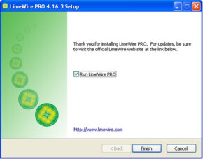 ­LimeWire Pro offers advanced features and technical support.