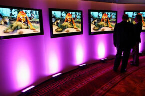 HDTV Image Gallery Every year at CES, manufacturers like Panasonic try to push the limits of HDTV. See more HDTV pictures.