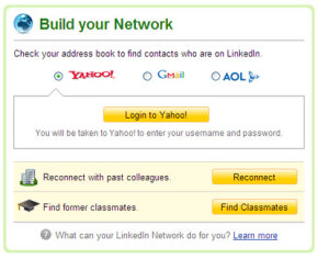 LinkedIn network page
