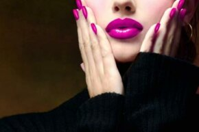 Matching lips and tips are a hot trend again.
