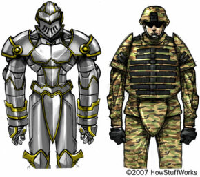 Ancient body armor has a lot in common with modern body armor. Both provide protection against weapons but are heavy, bulky and inflexible.