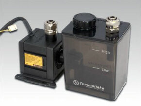 A pump for a liquid-cooled PC.