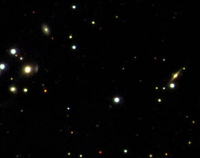 Image of stars and galaxies taken with the 6-meter LMT at the University of British Columbia