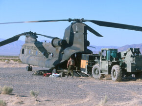 Ramps can be found on a number of things, including military helicopters like this one.