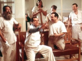 "The lobotomization of McMurphy (center, played by Jack Nicholson in the 1975 film) and others in ""One Flew Over the Cuckoo's Nest"" has long influenced how the procedure was perceived in mainstream culture. See more mental disorder pictures."