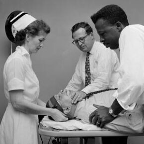 Developed in the 1930s, electroconvulsive therapy involves passing electrical current through the brain. It is still used today to treat the severely mentally ill.