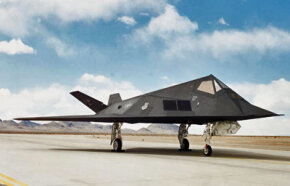 The Lockheed F-117a Nighthawk is a ground attack airplane. Its unique design helps to minimize its radar profile.