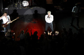 Image Gallery: Music Festivals Duran Duran performs inside the Louvre's pyramid entrance in 2008. See pictures of music festivals.
