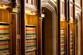 To walk the hallowed halls of this law school library, you'll need to make a decent score on the LSAT.