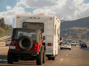 Want the jeep along for the trip? You'll need to look into all the different options for towing it.