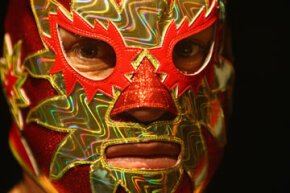 Look into the eyes of masked luchador Solar.