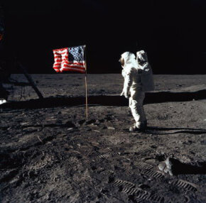"Moon Image Gallery Apollo 11 astronaut Edwin ""Buzz"" Aldrin Jr., the lunar module pilot of the first lunar landing mission, stands on the surface of the moon. See more moon pictures."