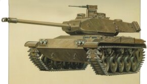 The M-41 Walker Bulldog Light Tank was designed and built as a light reconnaissance tank. It entered service in 1950.