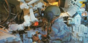 This is the gunner position in the M-60A3 Main Battle Tank. The 105mm main gun breech is in the left foreground.