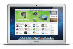 The Mac App Store as displayed on a MacBook Air.