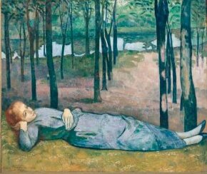 Madeleine in the Bois d'Amour by Émile Bernard  canvas (54-3/4 x 64-1/8 inches),  d'Orsay, Paris. See more pictures of Impressionist paintings.