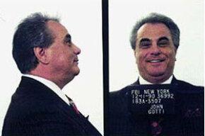 """""""Dapper Don"""" John Gotti in his 1990 mug shot"""