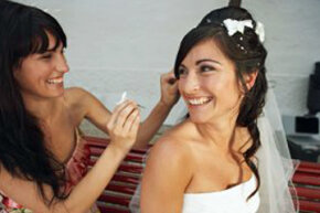The maid of honor has lots to do on the bride's big day.