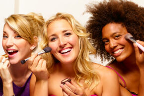 For many women, the ritual of putting on makeup and the camaraderie of doing so with friends is one of the best things about cosmetics.