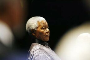 Nelson Mandela, on his 89th birthday, celebrating the launch of a humanitarian campaign.