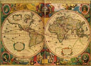 A world map by Henricus Hondius, originally published in 1633